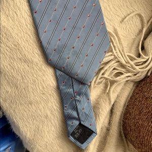 Burberry tie light blue